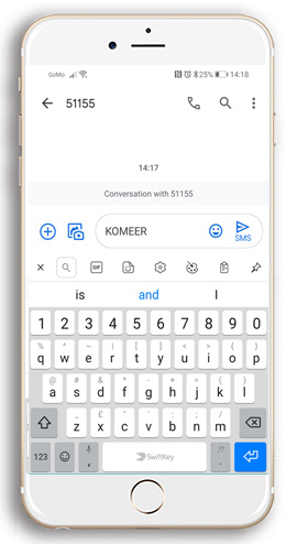 Komeer SMS Payment Option 3